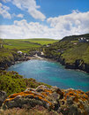 Cove at Port Quin, Cornwall, UK Stock Photography