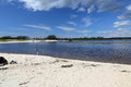 Cove with a sandy beach on the Florida Gulf Coast Royalty Free Stock Photo