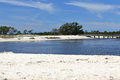 Cove on a sandy beach on the Gulf of Mexico Coast Royalty Free Stock Photo