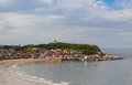 Cove in Scarborough in Great Britain Royalty Free Stock Photo