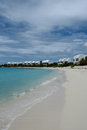 Covecastles resort villas on white sand beach and ocean, Shoal Bay West, Anguilla, British West Indies, BWI, Caribbean Royalty Free Stock Photo