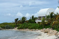 Covecastles villa on beach, Shoal Bay West, Anguilla, British West Indies, BWI, Caribbean Royalty Free Stock Photo