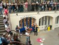 Covent garden london nauticalia street performer entertaining the crowds in the famous outdoor performance area in in central uk Royalty Free Stock Photo