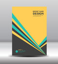Cover Annual report, Black yellow Cover design, brochure flyer Royalty Free Stock Photo