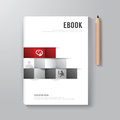 Cover book digital design minimal style template can be used for e e magazine vector illustration Stock Images