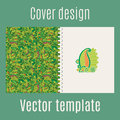 Cover design with jungle leaves