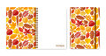 Cover design for notebooks or scrapbooks with autumn leaves