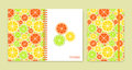 Cover design for notebooks or scrapbooks with citrus fruits Royalty Free Stock Photo