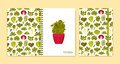 Cover design for notebooks or scrapbooks with green salads and vegetables