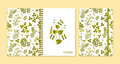 Cover design for notebooks or scrapbooks with legume plants Royalty Free Stock Photo