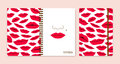 Cover design for notebooks or scrapbooks with lips