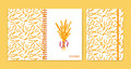 Cover design for notebooks or scrapbooks with wheat