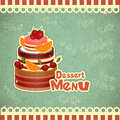 Cover retro dessert  Menu Stock Photography