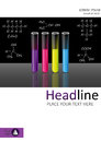 Cover template design with test tubes set. Vector.