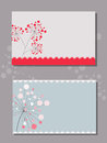 Cover template with flowers vector drawings of on simple background Royalty Free Stock Photography