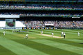 Cover view in ashes cricket test match melbourne australia december from the extra area on boxing day at melbourne ground Royalty Free Stock Image
