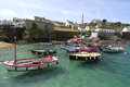Coverack cornwall england uk coastal fishing village port east side lizard peninsula nine miles south falmouth Royalty Free Stock Photos