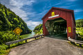 Covered bridge located in the region of point wolf new brunswick canada Royalty Free Stock Photography