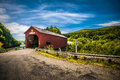 Covered bridge located in the region of point wolf new brunswick canada Royalty Free Stock Images