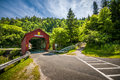 Covered bridge located in the region of point wolf new brunswick canada Royalty Free Stock Photo