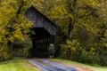 Covered Bridge And Winding Gra...