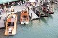 gondolas on on a venetian Canal, Venice, Italy Royalty Free Stock Photo