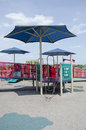 Covered playground this is a that is from the sun by a large umbrella Royalty Free Stock Image