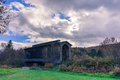 Covered railroad bridge Royalty Free Stock Photo