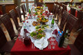 Covered table Royalty Free Stock Photography