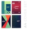 Covers modern abstract design templates set. Futuristic minimal