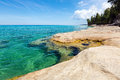 `The Coves` on Lake Superior at Pictured Rocks National Lakeshore Royalty Free Stock Photo