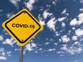 Covid 19 traffic sign Royalty Free Stock Photo