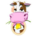 Cow adorable illustration in vector format Royalty Free Stock Photo