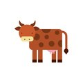 Cow animal isolated icon
