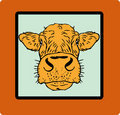 Cow card, paper poster Royalty Free Stock Photos