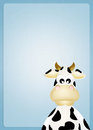 Cow cartoon illustration of funny Stock Image