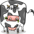 Cow farm animal cartoon illustration of funny spotted Stock Image