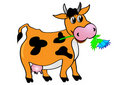 Cow with flower Stock Images