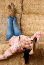 Cow-girl de sourire Images stock