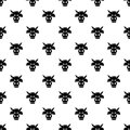 Cow head pattern vector seamless Royalty Free Stock Photo