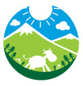 Cow icon illustration background Royalty Free Stock Photo