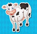 Cow illustration of a with background Stock Photography