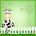 Cow illustration of funny cartoon Royalty Free Stock Photo