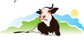 Cow on the pasture vector illustration Royalty Free Stock Images