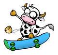 Cow series - skateboard Stock Photography