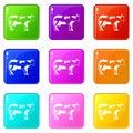 Cow set 9 Royalty Free Stock Photo