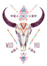 Cow Skull In Tribal Style. Ani...