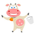 Cow vector illustration of a Royalty Free Stock Photography