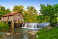 Cowan mill southwestern virginia summer time grist located in in the appalachian mountains Royalty Free Stock Image