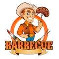 Cowboy barbecue chef Lizenzfreies Stockbild
